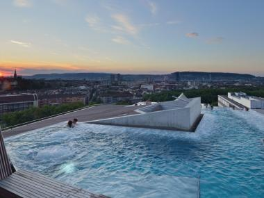 Bathing Above the Zurich Rooftops